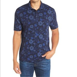 'Hawaii by Night Spectator' Floral Print Polo